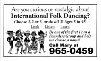 Reviving Folk Dance